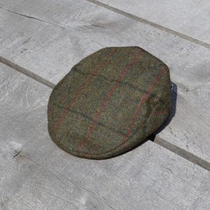 Harris Tweed Flat Cap Dark Green Koedoe & Co top